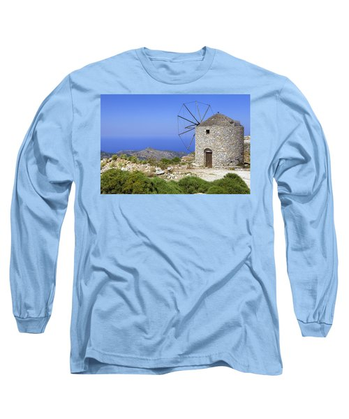 wind mill Naxos Long Sleeve T-Shirt