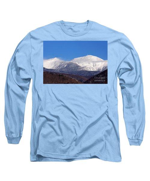 Windy Day At Mt Washington Long Sleeve T-Shirt