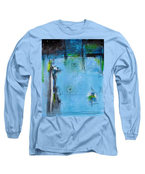 Long Sleeve T-Shirt featuring the painting Winter by Nicole Nadeau