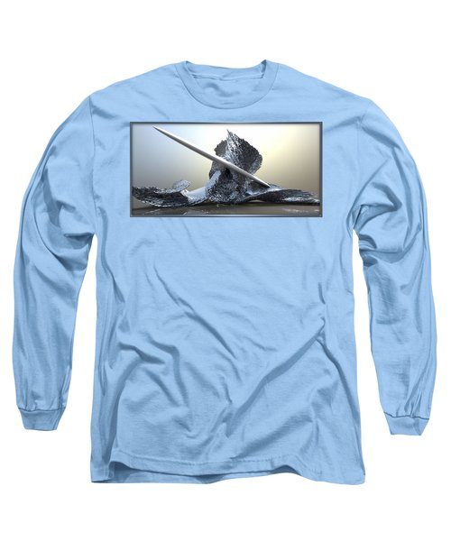 ' Big Blue Wipeout ' Long Sleeve T-Shirt