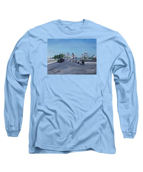 Family Cycling Tour Long Sleeve T-Shirt by Francine Heykoop