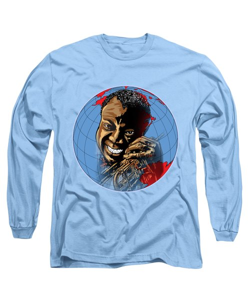 Long Sleeve T-Shirt featuring the painting  Louis. by Andrzej Szczerski