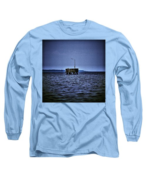 Long Sleeve T-Shirt featuring the photograph  The Dock Of Loneliness by Jouko Lehto