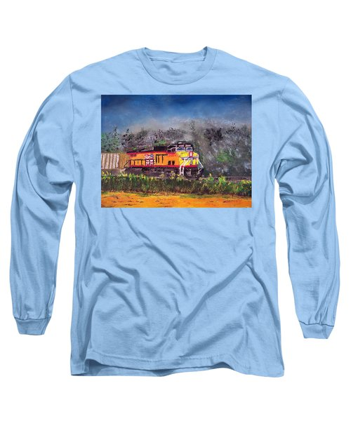 021216 East Bound Long Sleeve T-Shirt by Garland Oldham