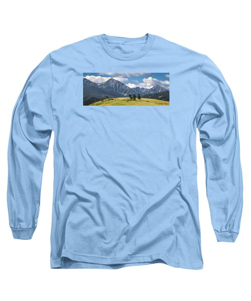#0491 - Spanish Peaks, Southwest Montana Long Sleeve T-Shirt