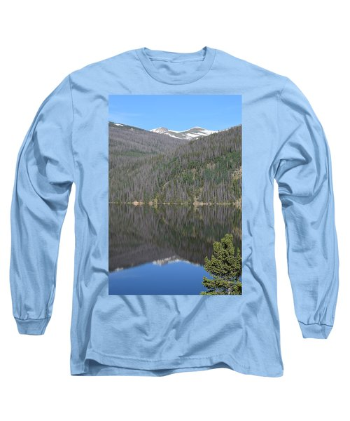 Chambers Lake Reflection Hwy 14 Co Long Sleeve T-Shirt