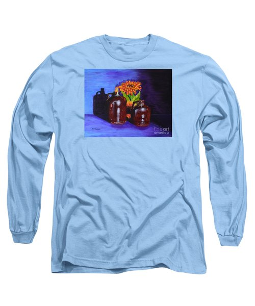 Long Sleeve T-Shirt featuring the painting 2 Old Jugs by Melvin Turner