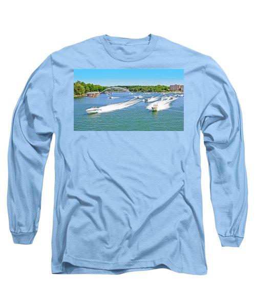 2017 Poker Run, Smith Mountain Lake, Virginia Long Sleeve T-Shirt