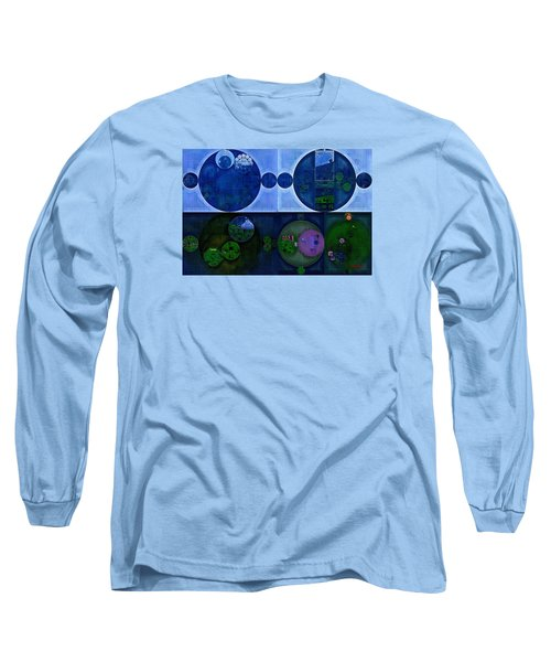Long Sleeve T-Shirt featuring the digital art Abstract Painting - Saint Patrick Blue by Vitaliy Gladkiy