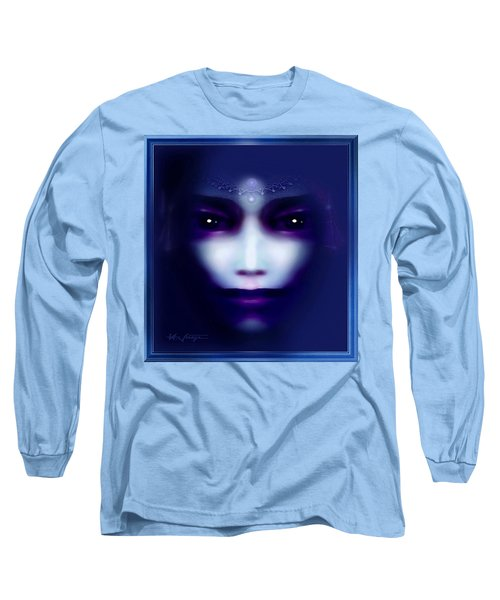 Angel  Blue Long Sleeve T-Shirt by Hartmut Jager