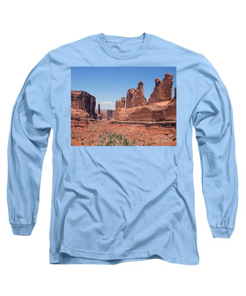 Arches National Park Panorama Long Sleeve T-Shirt by Merton Allen