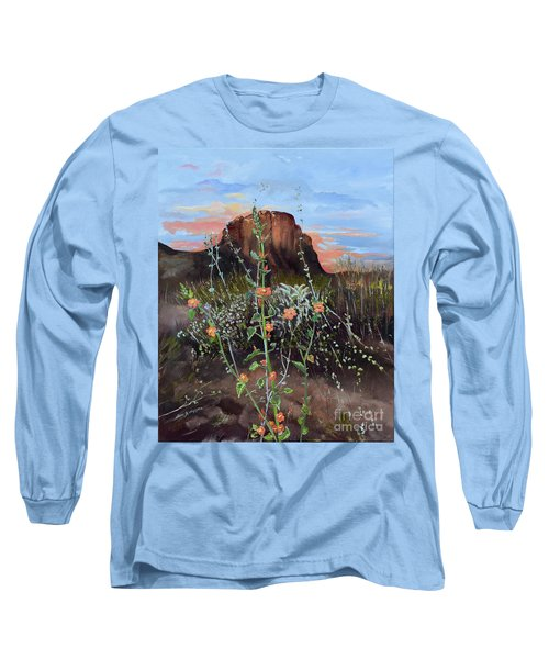 Arizona Desert Flowers-dwarf Indian Mallow Long Sleeve T-Shirt