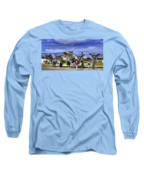 B-17 Long Sleeve T-Shirt by Joe  Palermo