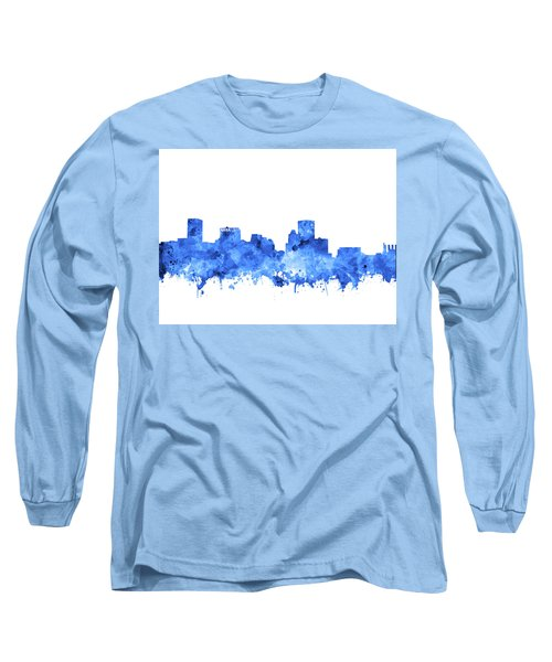 Long Sleeve T-Shirt featuring the painting Baltimore Skyline Watercolor 7 by Bekim Art