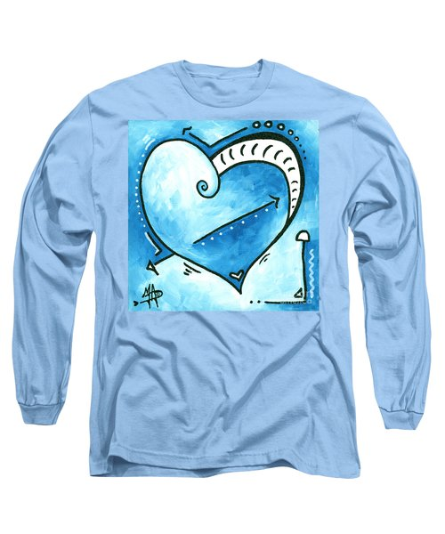 Beautiful Original Acrylic Heart Painting From The Pop Of Love Collection By Madart Long Sleeve T-Shirt