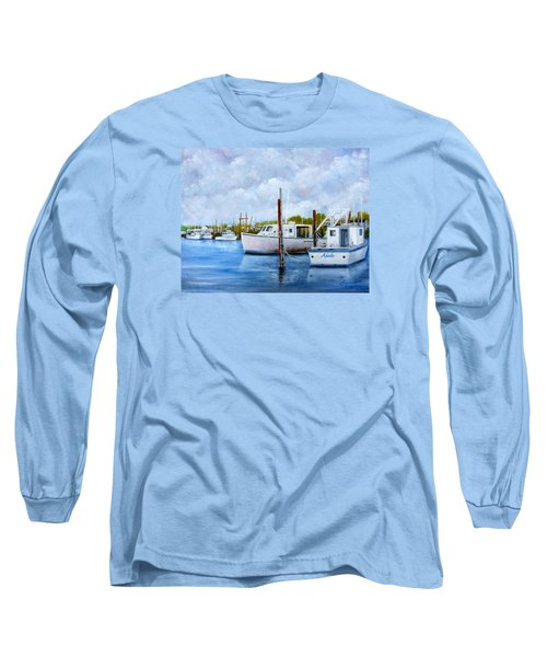Belford Nj Fishing Port Long Sleeve T-Shirt