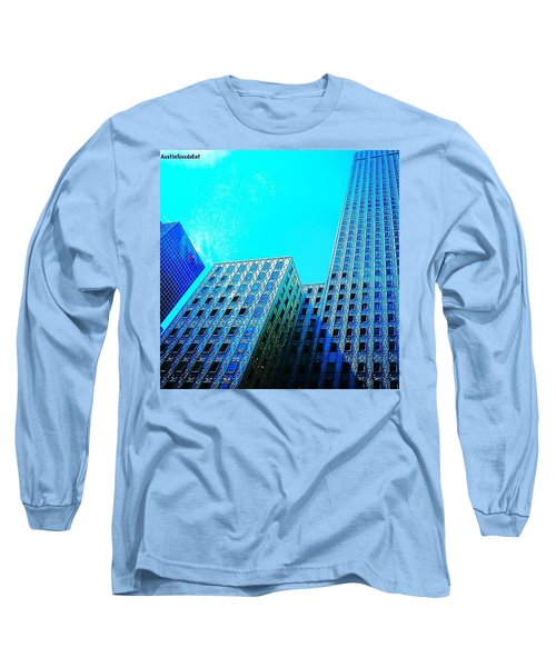 #blue #buildings And #bluesky On A Long Sleeve T-Shirt