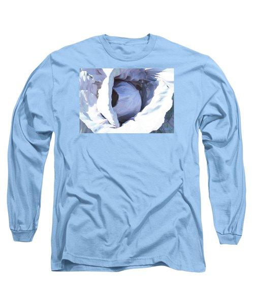 Blue Cabbage Long Sleeve T-Shirt