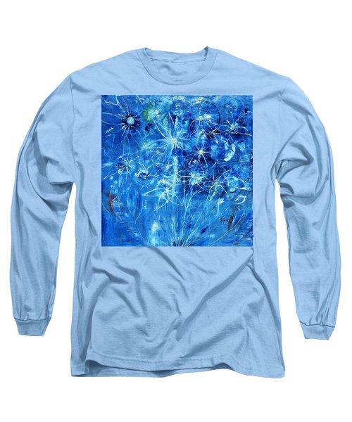 Blue Design Long Sleeve T-Shirt