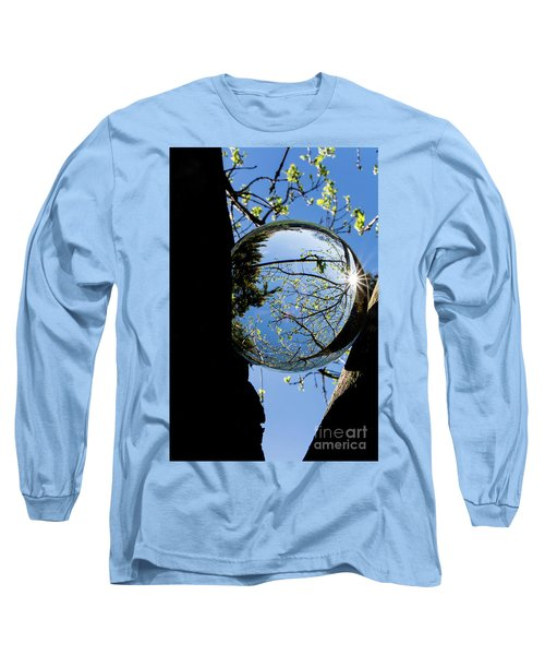 Crystal Reflection Long Sleeve T-Shirt by Deborah Klubertanz