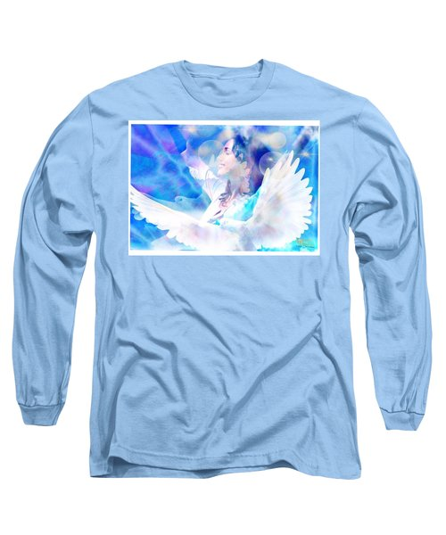 Long Sleeve T-Shirt featuring the digital art Fly From The Inside  by Diana Riukas