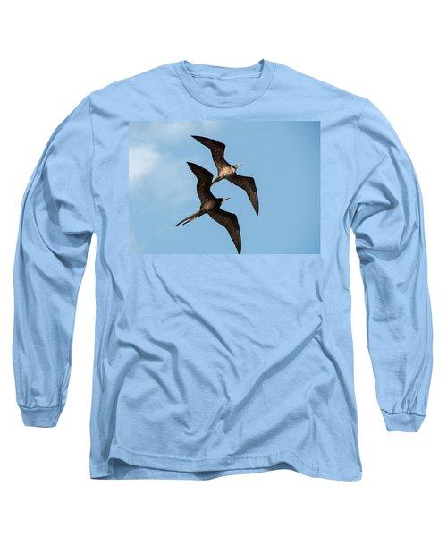 Frigates At Isla Mujeres Long Sleeve T-Shirt