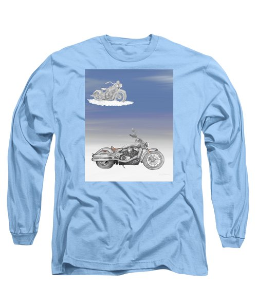 Long Sleeve T-Shirt featuring the drawing Grandson by Terry Frederick