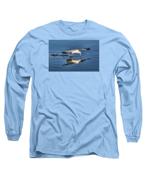 Long Sleeve T-Shirt featuring the photograph Gull Reflection by Susi Stroud
