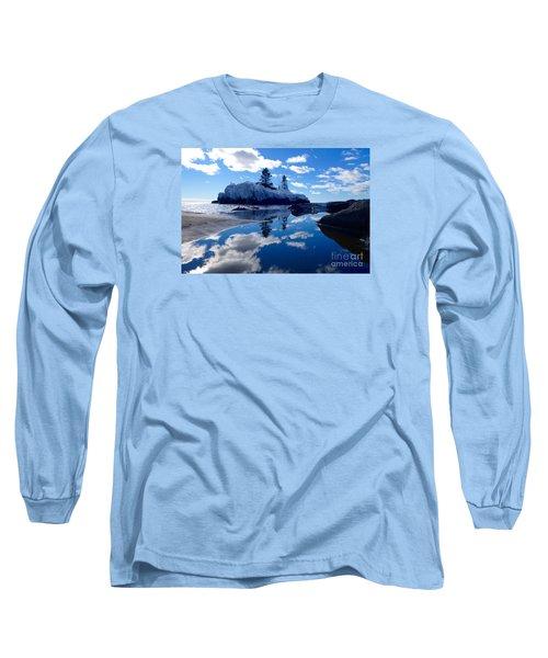 Hollow Rock Reflections Long Sleeve T-Shirt by Sandra Updyke