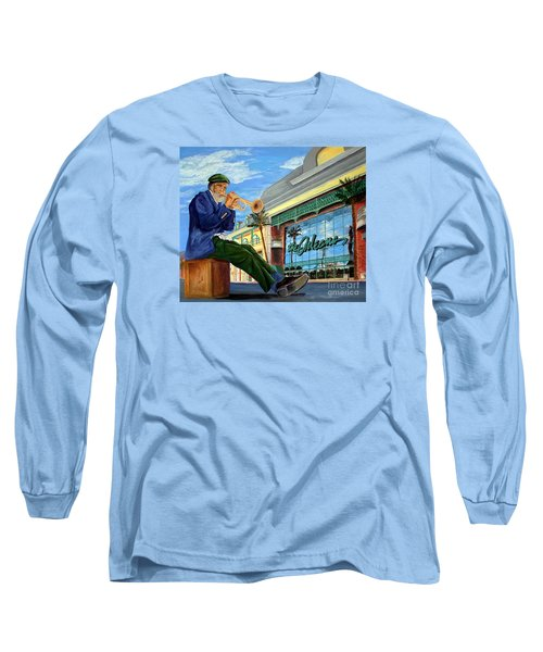 Jazz At The Orleans Long Sleeve T-Shirt by Vicki  Housel