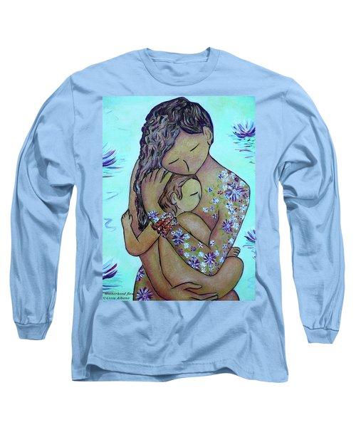 Motherhood Flowers All Over Long Sleeve T-Shirt