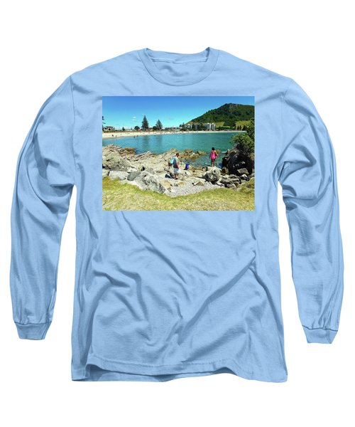 Mount Maunganui Beach 12 - Tauranga New Zealand Long Sleeve T-Shirt