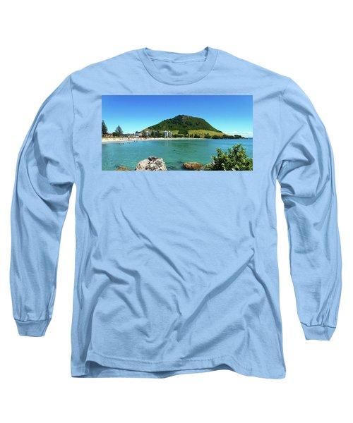 Mt Maunganui Beach 7 - Tauranga New Zealand Long Sleeve T-Shirt