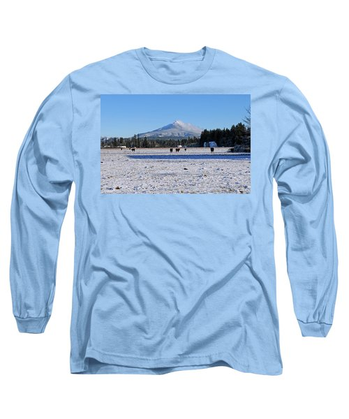 Long Sleeve T-Shirt featuring the photograph Mt. Pilchuck by Rebecca Parker