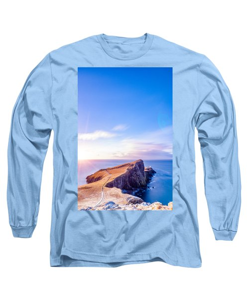 Neist Point Lighthouse At Dawn Long Sleeve T-Shirt