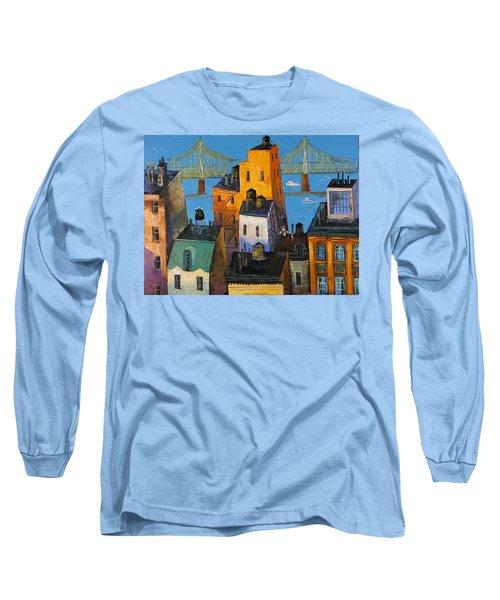 New York Long Sleeve T-Shirt by Mikhail Zarovny