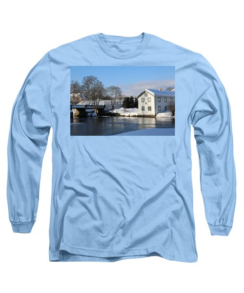 Norwegian Winter Landscape  Long Sleeve T-Shirt