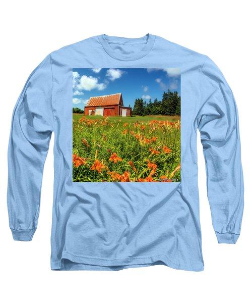 Old Barn In Cape Breton #2 Long Sleeve T-Shirt