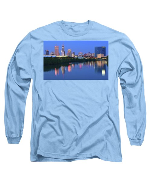 Panoramic Indianapolis Long Sleeve T-Shirt by Frozen in Time Fine Art Photography