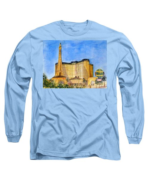 Paris Hotel And Casino Long Sleeve T-Shirt by Vicki  Housel