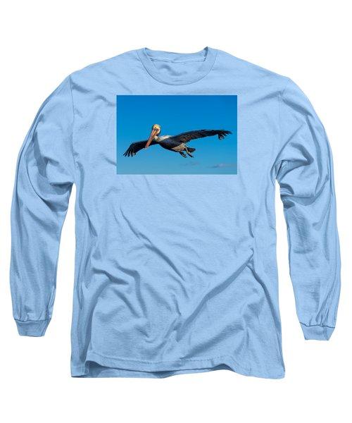 Pelican Long Sleeve T-Shirt by Derek Dean
