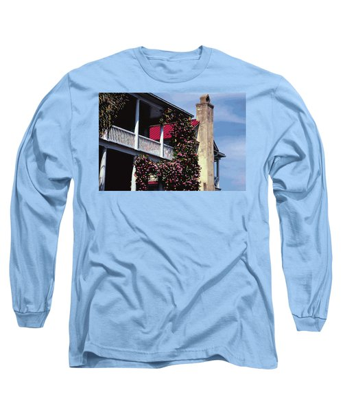 Porch In Bloom Long Sleeve T-Shirt by Glenn Gemmell