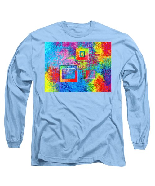 Portals Of Color Long Sleeve T-Shirt by Jeremy Aiyadurai