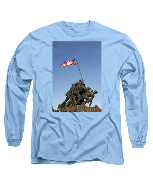 Raising The Flag On Iwo - 799 Long Sleeve T-Shirt by Paul W Faust -  Impressions of Light