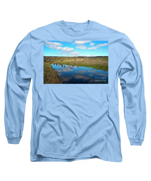 Long Sleeve T-Shirt featuring the photograph Reflections Of Spring by Mike Dawson