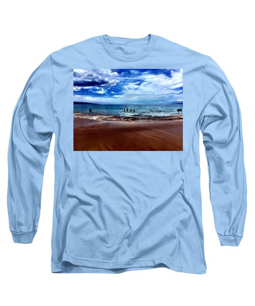 Long Sleeve T-Shirt featuring the photograph Relax by Michael Albright