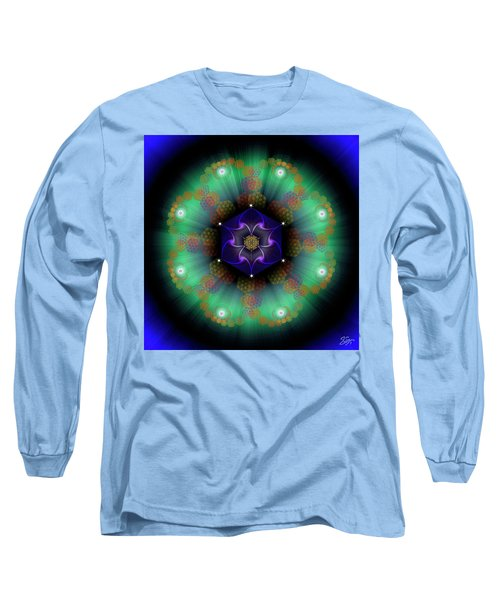 Sacred Geometry 638 Long Sleeve T-Shirt by Endre Balogh