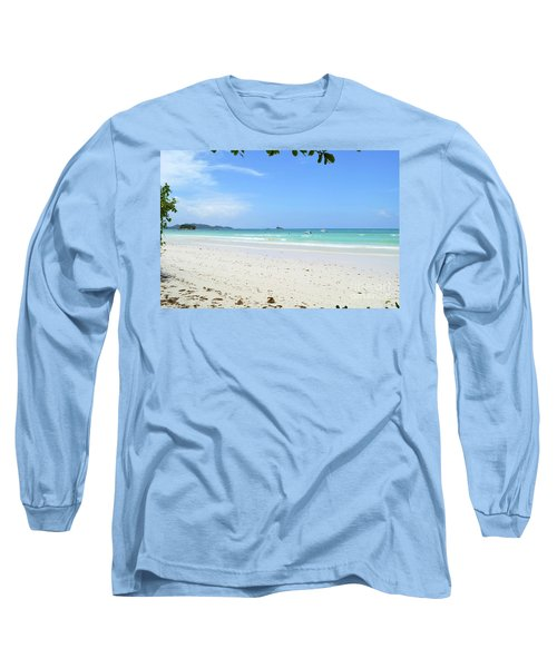 Long Sleeve T-Shirt featuring the digital art Seychelles Islands 2 by Eva Kaufman