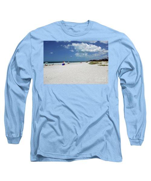 Long Sleeve T-Shirt featuring the photograph Siesta Key Beach by Gary Wonning
