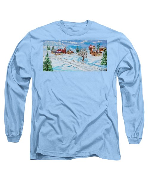 Winter Hamlet Long Sleeve T-Shirt by Mike Caitham